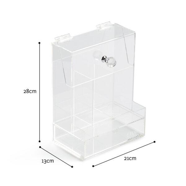 2 Impressive Brush Storage Boxes With Lid | Acrylic Storage Box