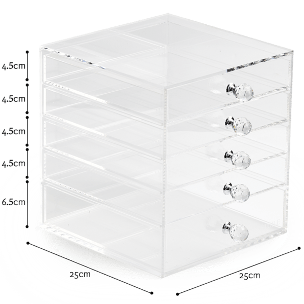 4 Premium Acrylic Makeup Organizers With Drawers | Clear Acrylic Cosmetic Organizer