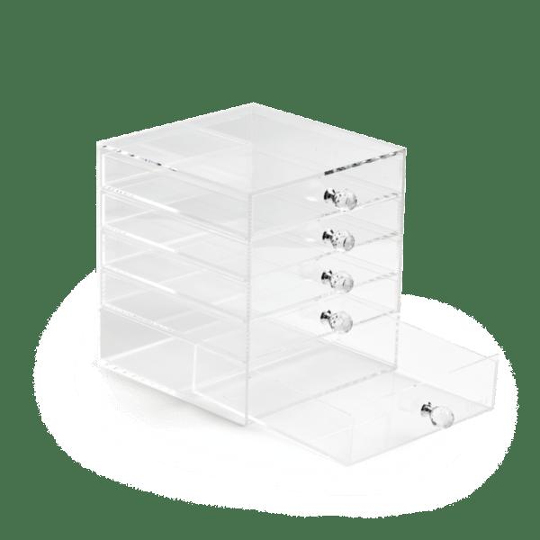 4 Premium Acrylic Makeup Organizers With Drawers   Clear Acrylic Storage Bins