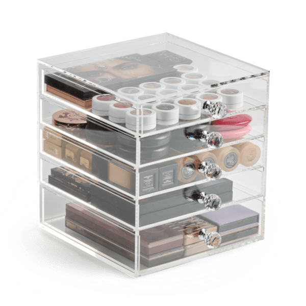 4 Premium Acrylic Makeup Organizers With Drawers | Clear Storage Bins