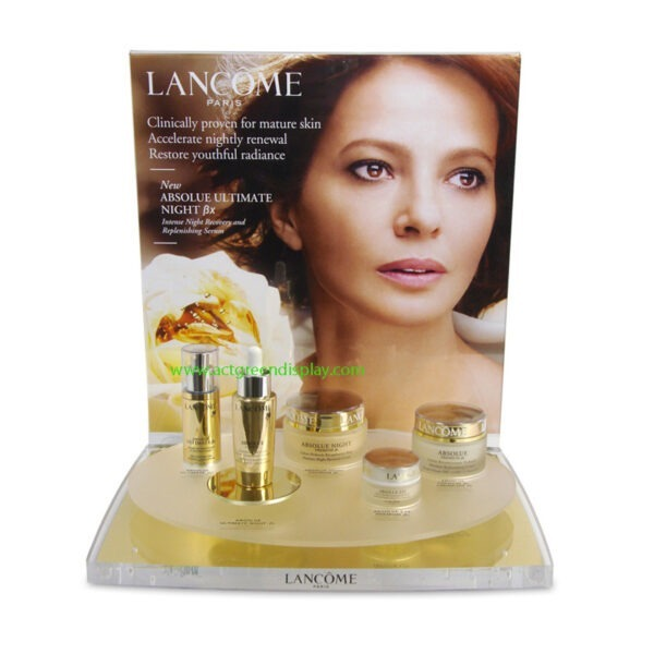 Luxury Clear Acrylic Holder | Skincare Display