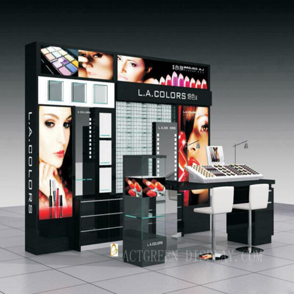 Elegant Cosmetic Shop Display Counter | Top Makeup Counter Display