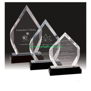 3 Elegant acrylic trophy display case set