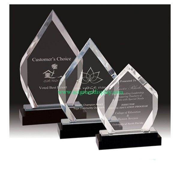 3 Elegant acrylic trophy display case set