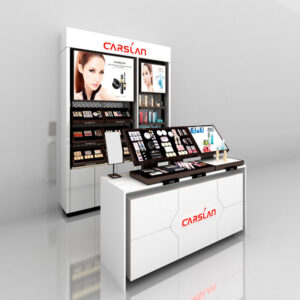 Gorgeous Cosmetic Display Counter | Cosmetic Display Showcase