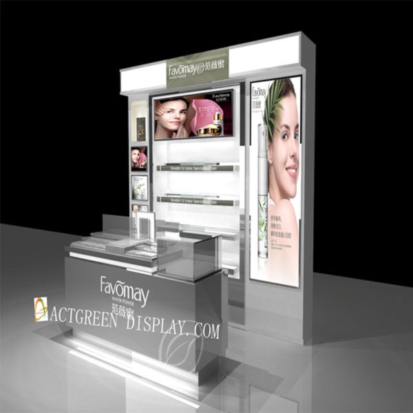 Luxury Makeup Counter Display   Top Cosmetic Display Shelf