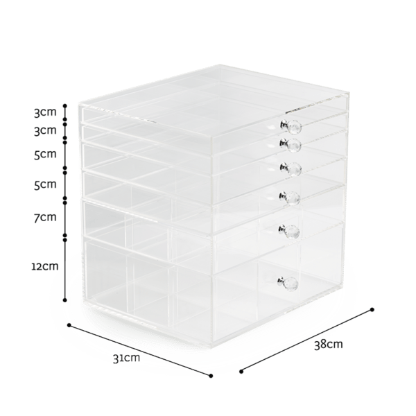 Luxury Plastic Box Top Acrylic Storage for Makeup