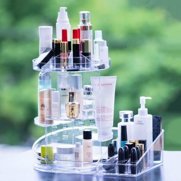 Luxury Rotatable Plastic Storage Containers Acrylic Storage