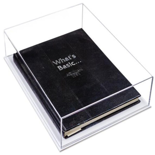 Luxury acrylic book display | acrylic stationery display