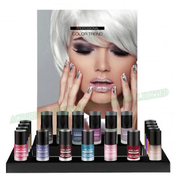 Luxury tiered nail polish display rack