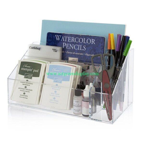 Top acrylic menu holders | stationery shop display rack