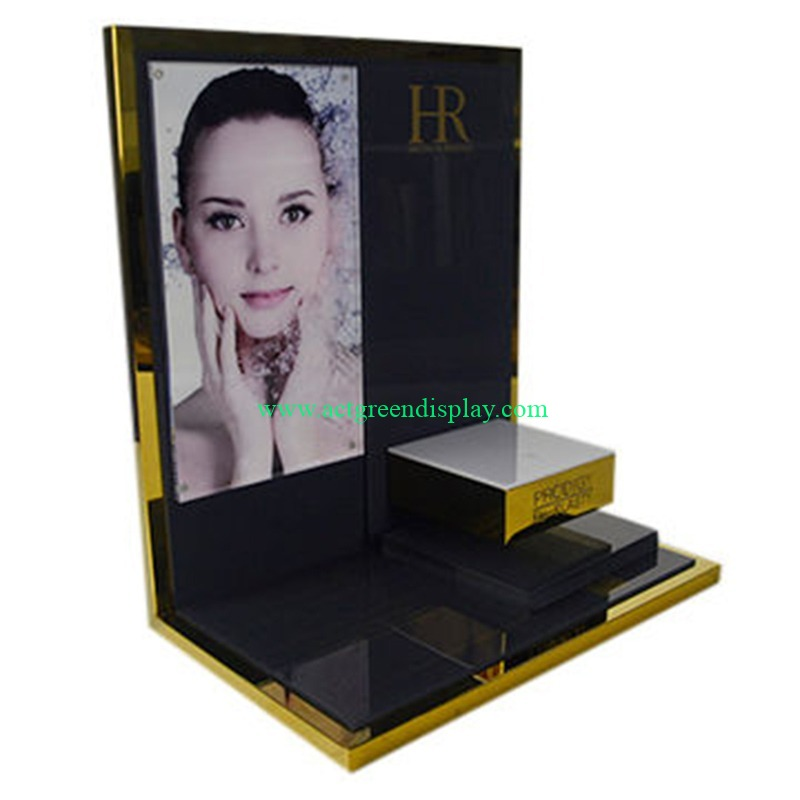 custom acrylic display stands | skincare acrylic display