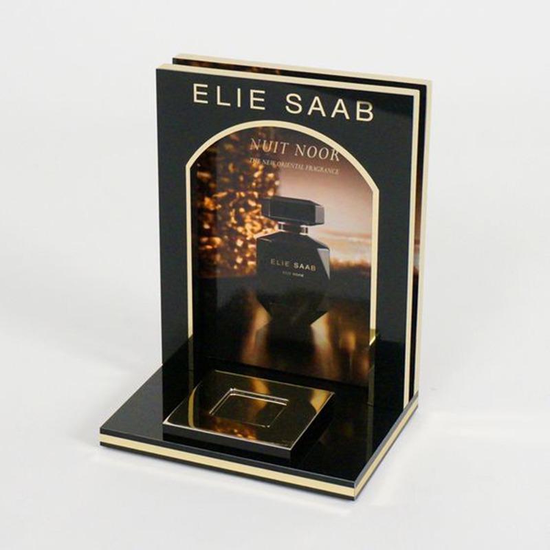 luxury perfume display with acrylic