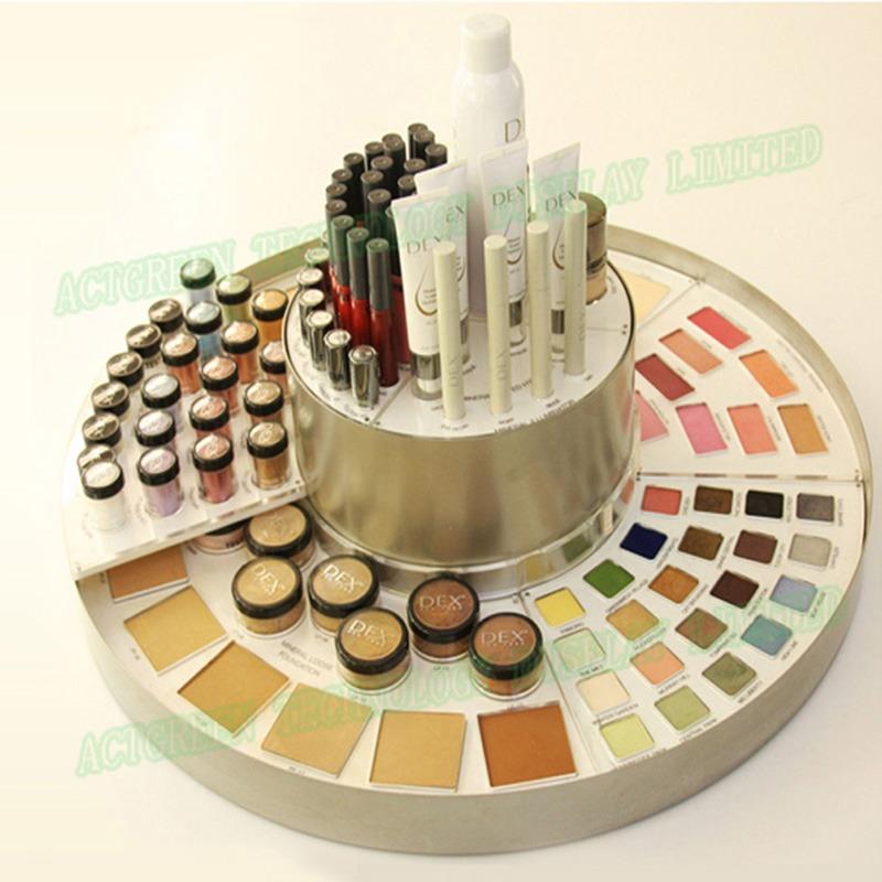 Rotatable Retail Cosmetic Display | Luxury Acrylic Display