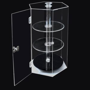 Rotatable Large Acrylic Display Case | Top Clear Acrylic Display