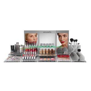 Custom Acrylic Counter Display for Luxury Cosmetics acrylic display Stand