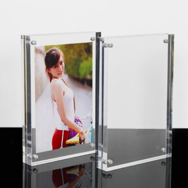 Acrylic Photo Frame Magnetic Top Acrylic Photo Frame Block 1