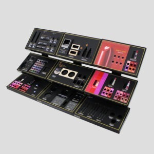 Custom Acrylic Cosmetics Display-Luxury Acrylic Makeup Displays